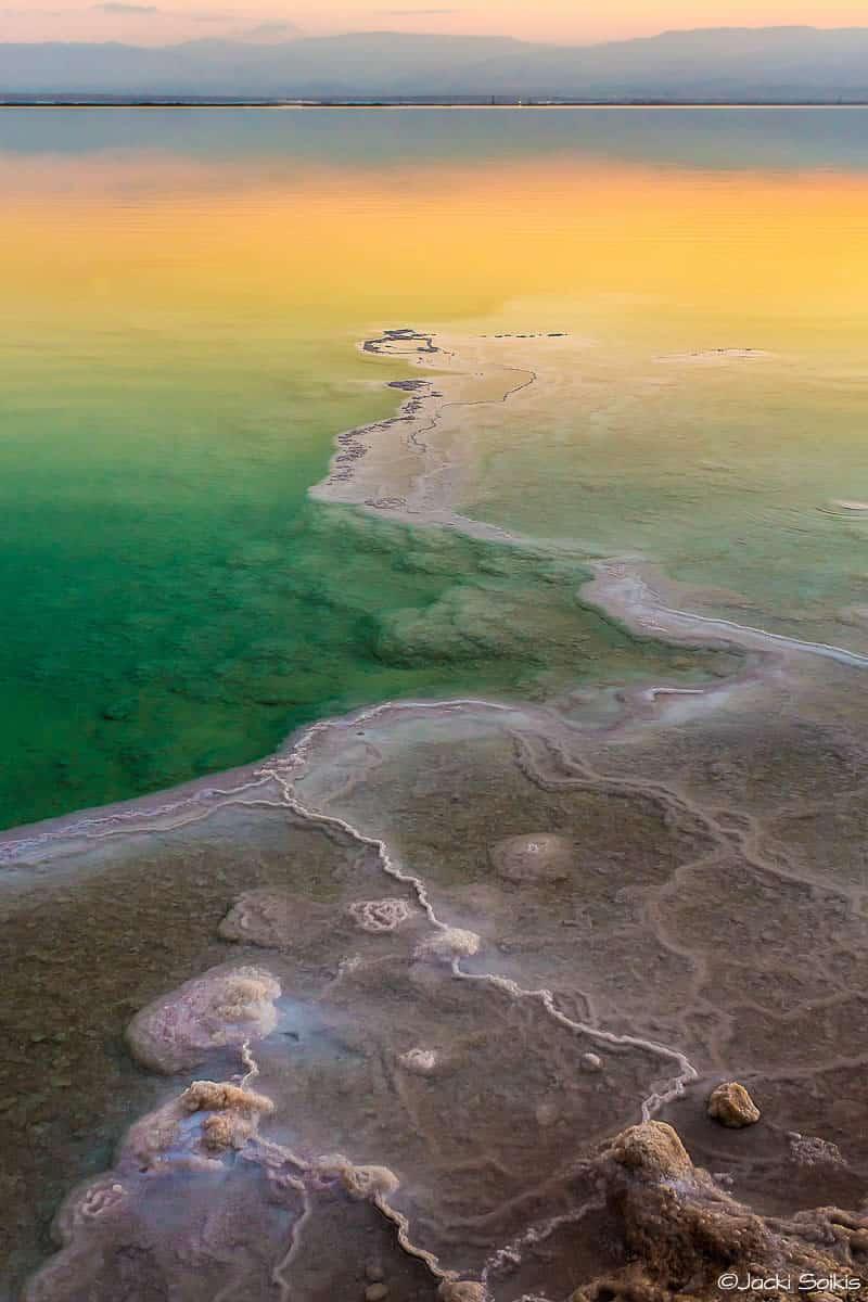 תמונה לסלון מודרני או כפרי של זריחה לימונית בים המלח ממגוון תמונות קנבס לסלון