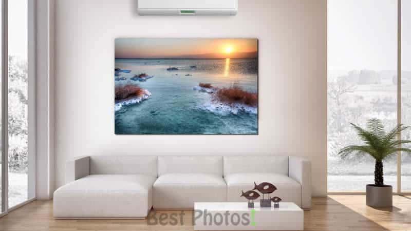 הדמיה של תמונת זריחה בים המלח ממגוון תמונות למכירה לבית ולמשרד