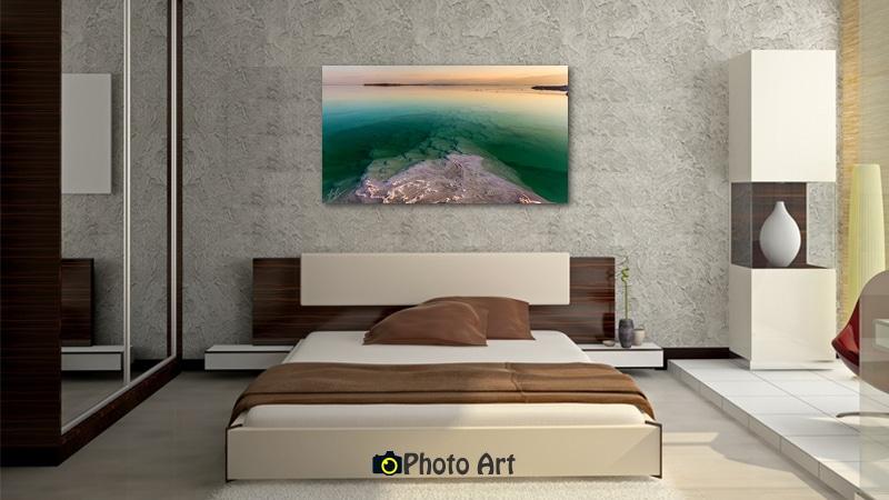הדמיית תמונת ממעמקים כתמונה לחדר שינה יוקרתי