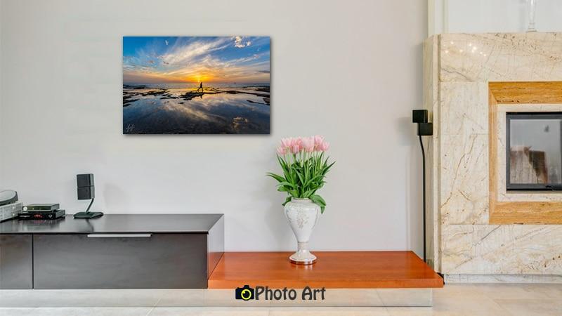 תמונת הדמיה של דייג בשקיעה ועוד מגוון תמונות לבית באתר פוטו ארט
