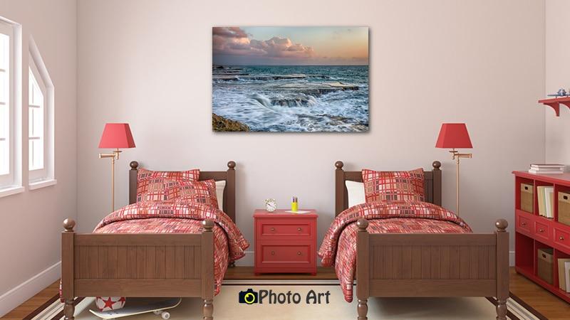 הדמיית תמונה לחדר ילדים של שצף הגלים