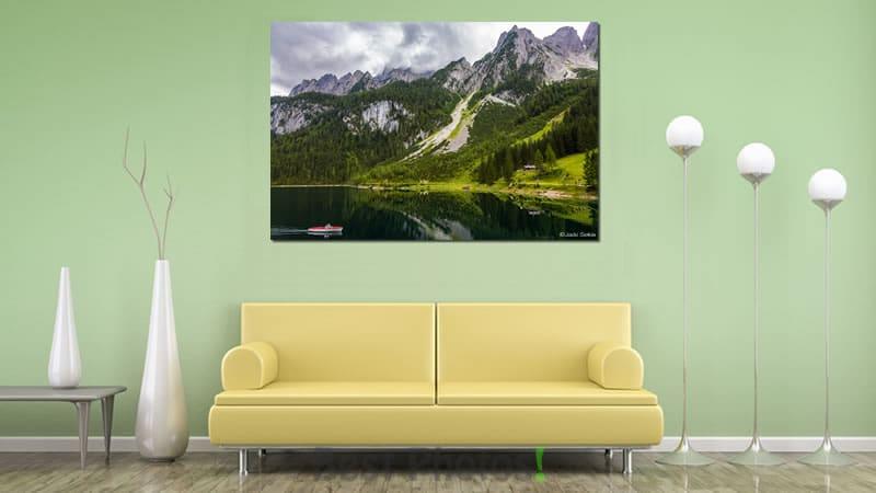 הדמיית תמונה לסלון מודרני של שניים בסירה