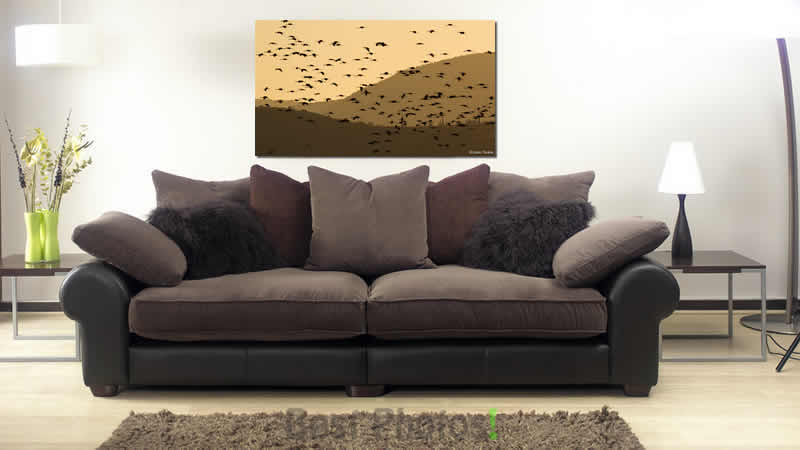 הדמיה של תמונה לסלון הנקראת שכבות