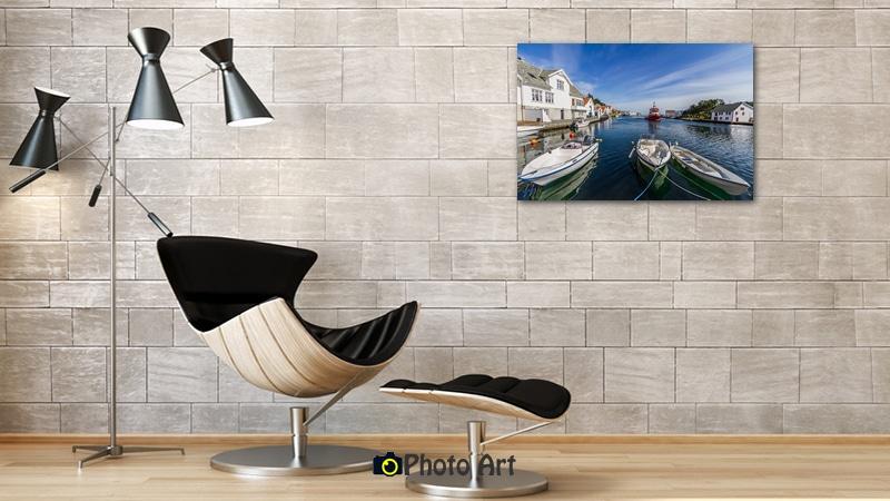 הדמיית תמונת נוף של שלווה סטואית על פני המים