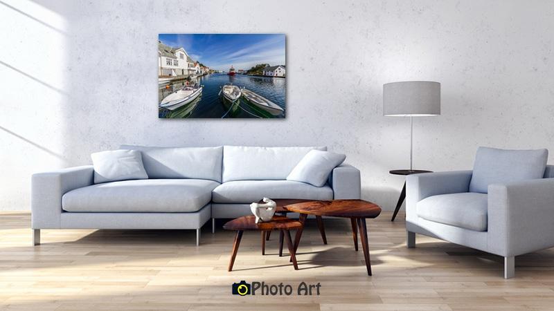 שלווה סטואית בתמונת קיר יפה לסלון מלא אור