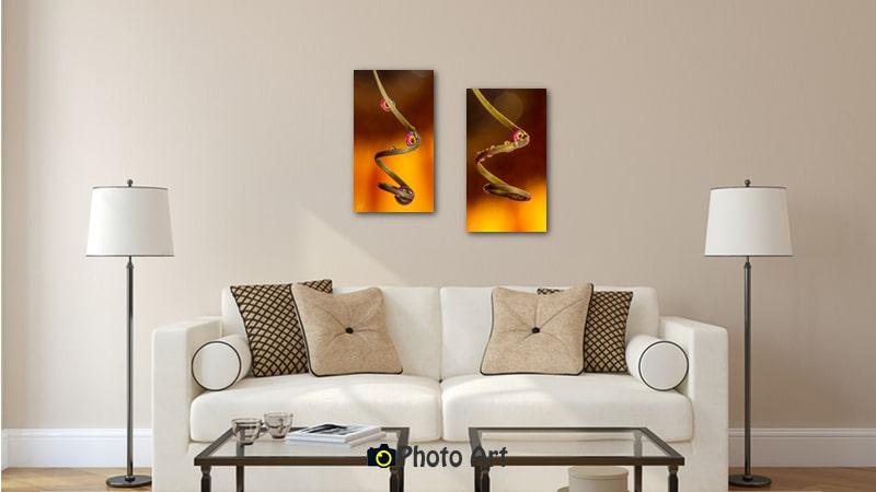 צמד טיפות בתמונת הדמיה של תמונות לסלון