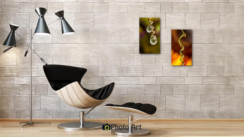 זוג תמונות לסלון של טיפות