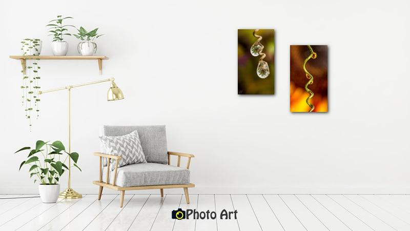 תמונת הדמיה בסלון בהיר ומואר של זוג צילומי טיפות