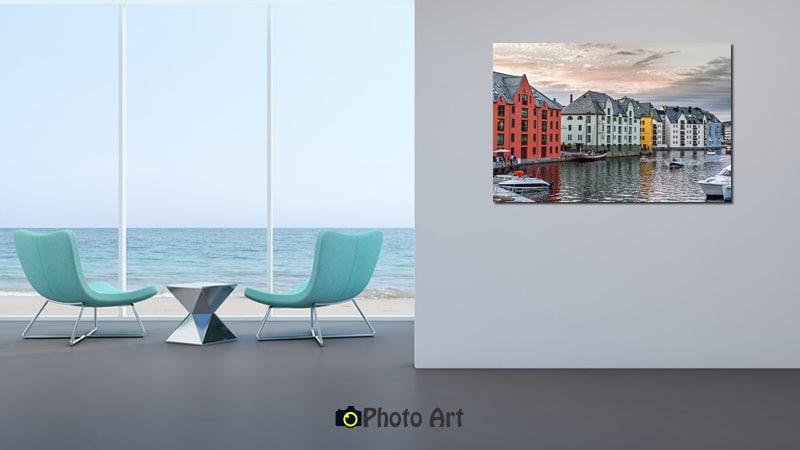 תמונת אולסונד על קיר הבית מתוך מגוון תמונות על קנבס בהדפסה איכותית
