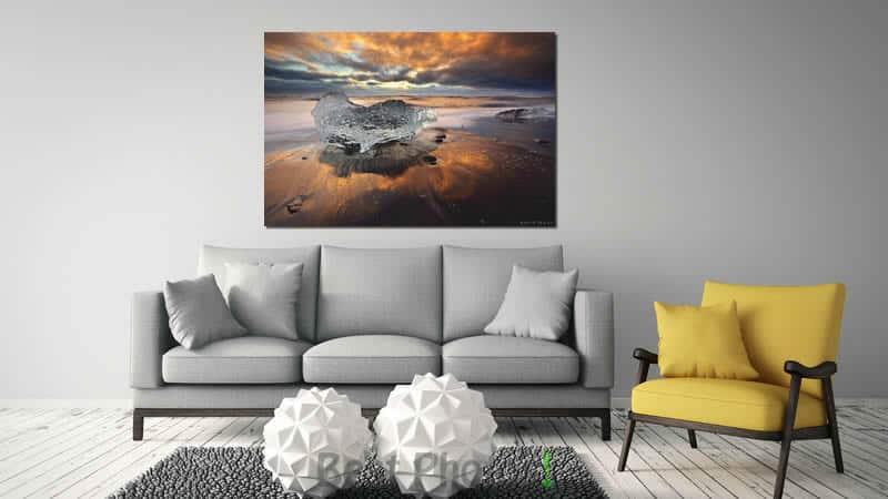 הדמיה של תמונת להבות הקרח ועוד שלל תמונות שקיעה מדהימות