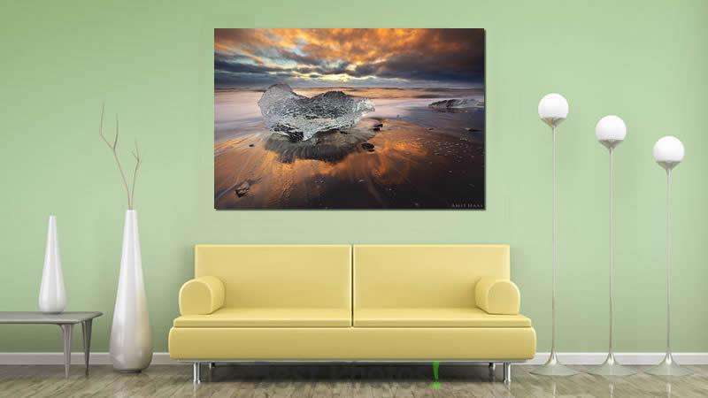 תמונת קיר לסלון עוצר נשימה של להבות הקרח