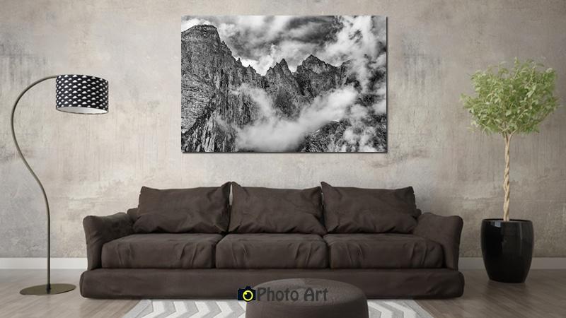 תמונת סוער בהדמיה כתמונה לסלון מודרני
