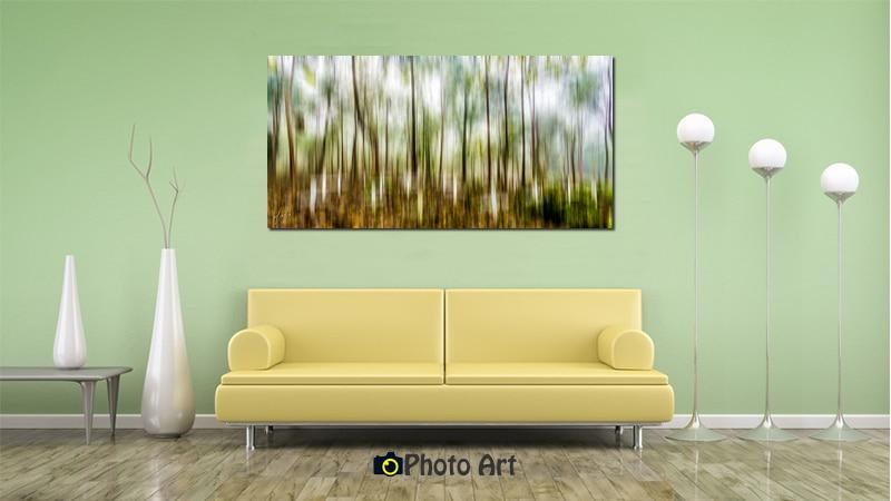 הדמיה של תמונות קיר לסלון - תמונת יער המיוחדת