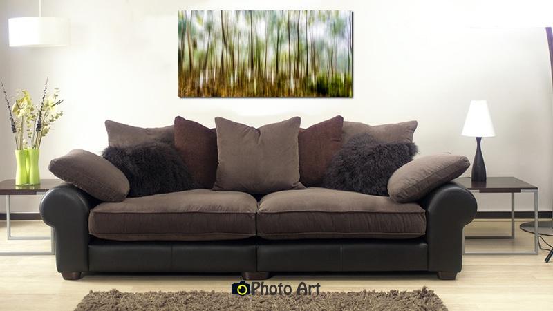הדמיית תמונת יער בסלון קלאסי ועוד מגוון תמונות טבע באתר