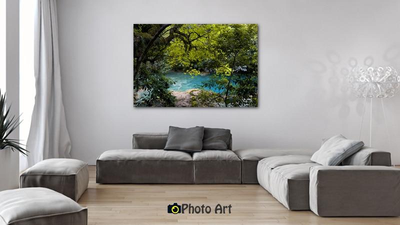 גלריה תמונות מקוריות לבית ובהן תמונת הנהר הנסתר שבהדמיה זו