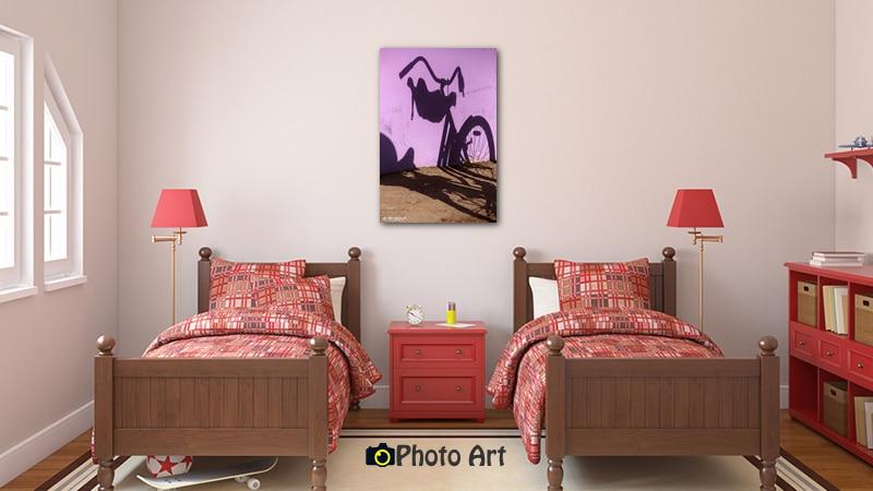 הדמיית תמונות לחדר ילדים - תמונת אופניים