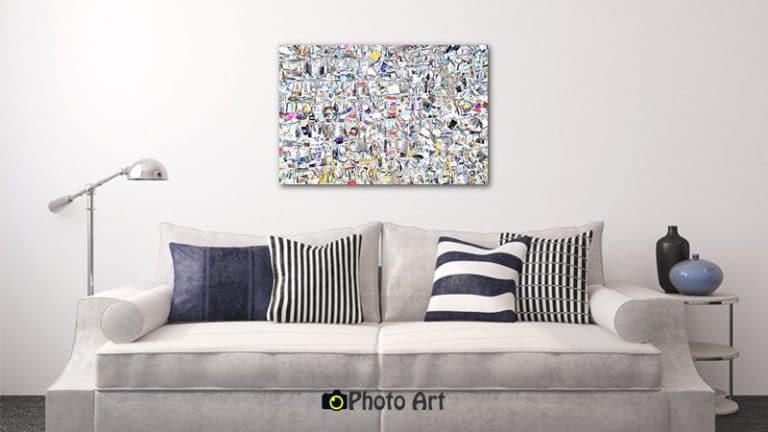 הדמיית תמונת מנעולים כתמונת קיר בסלון ועוד מגוון תמונות לסלון בהיר