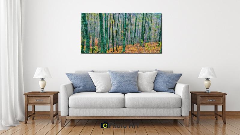 כל צבעי היער בהדמיית תמונה לבית מעוצב