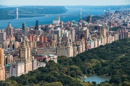 מבט על מרשים על העיר ניו יורק ממגוון תמונות לבית