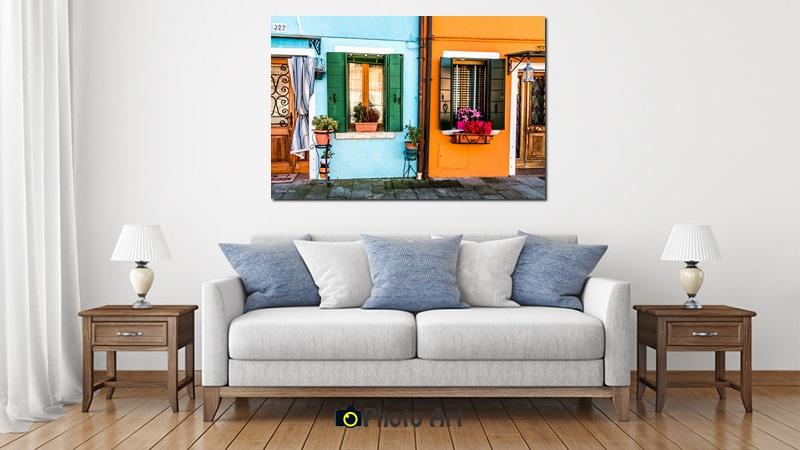 מגוון עשיר של תמונות אווירה לסלון מעוצב