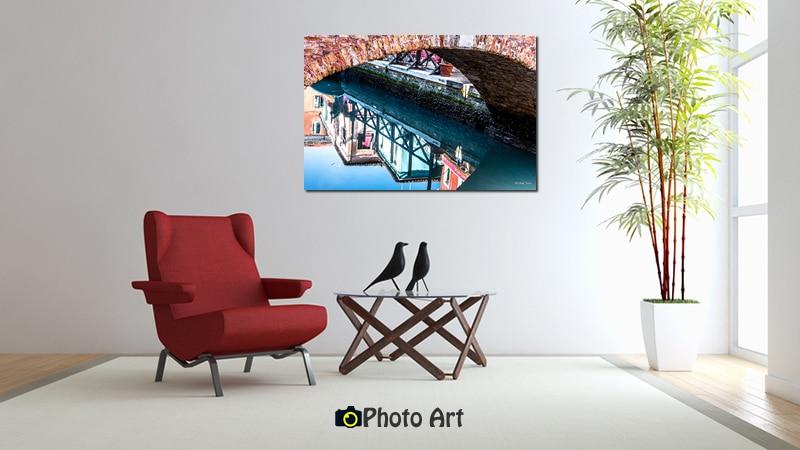 הדמיה על הקיר של תמונת מראה מתחת לגשר מתוך גלריה תמונות לבית
