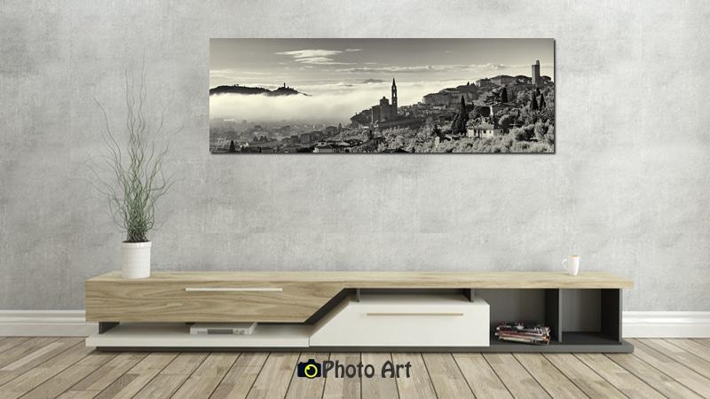 הדמיה של תמונת חיים באגדות ממגוון תמונות נוף לסלון