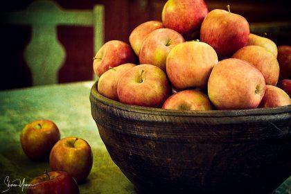 תמונת טבע דומם של תפוחים לסלון, למטבח ולפינת האוכל