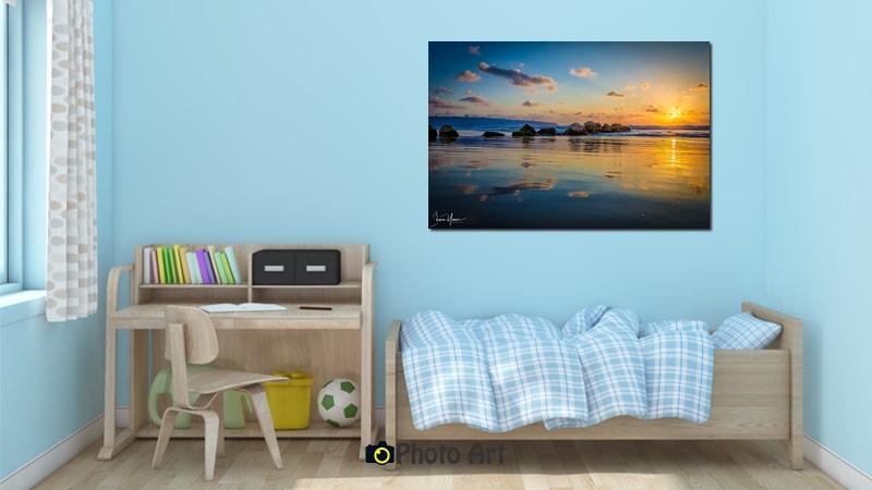 תמונת שקיעה מעל המפרץ ממבחר תמונות לחדר ילדים מיוחד