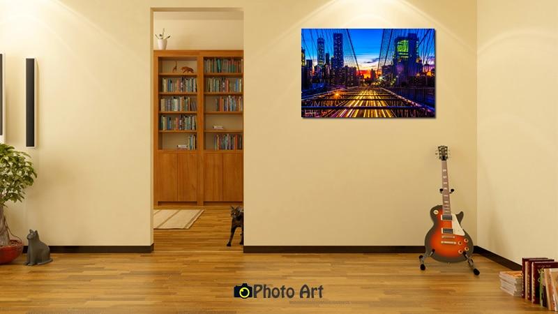 הדמיית תמונת שקיעה מעל העיר ועוד מגוון תמונות נוף אורבני מיוחדות