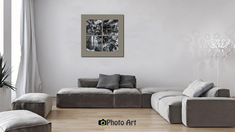 תמונת מעשה האש בהדמיה לקיר הסלון