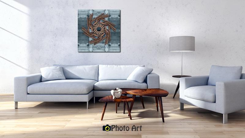 תמונת פרח חלוד בהדמיה כתמונת קיר לסלון