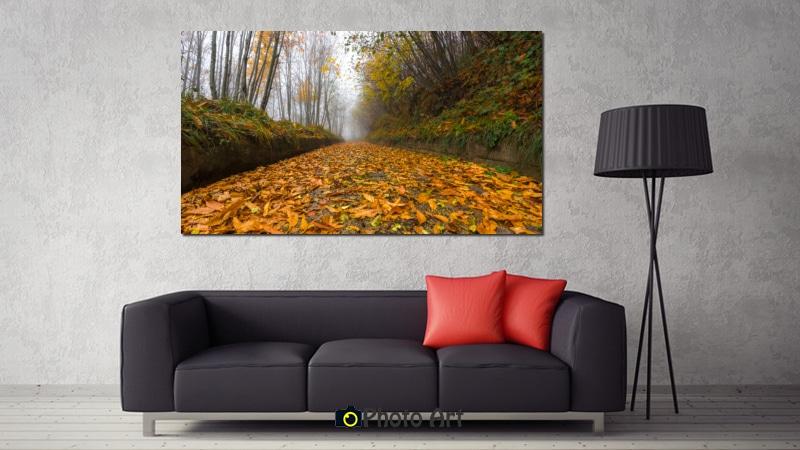 הדמיה של תמונה לסלון זהב של סתיו באתר תמונות יפות לבית