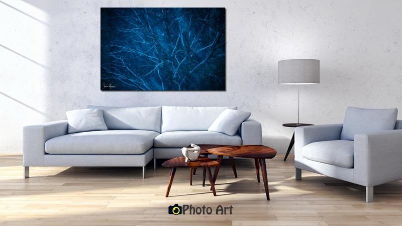 הדמיית תמונת עץ כחול מתוך גלריה תמונות פוטו ארט