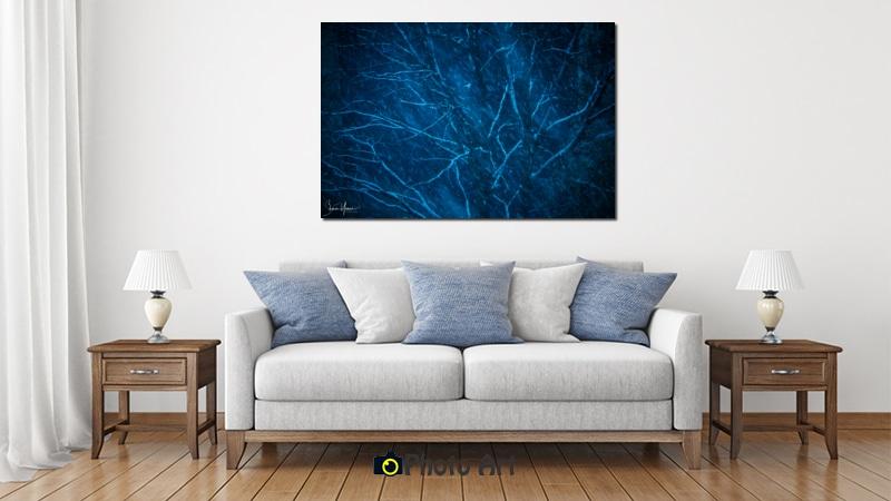תמונת עץ כחול בהדמיית תמונה לבית ולמשרד