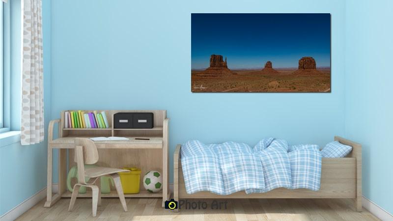 הדמיית תמונת השלישיה ועוד מבחר תמונות לחדר ילדים