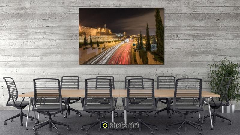 תנועה ירושלמית בהדמיית תמונה למשרדים בעיצוב דינמי