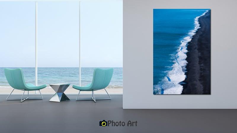 הדמיית הצילום המרהיב קו החוף בממדים גדולים ומרשימים