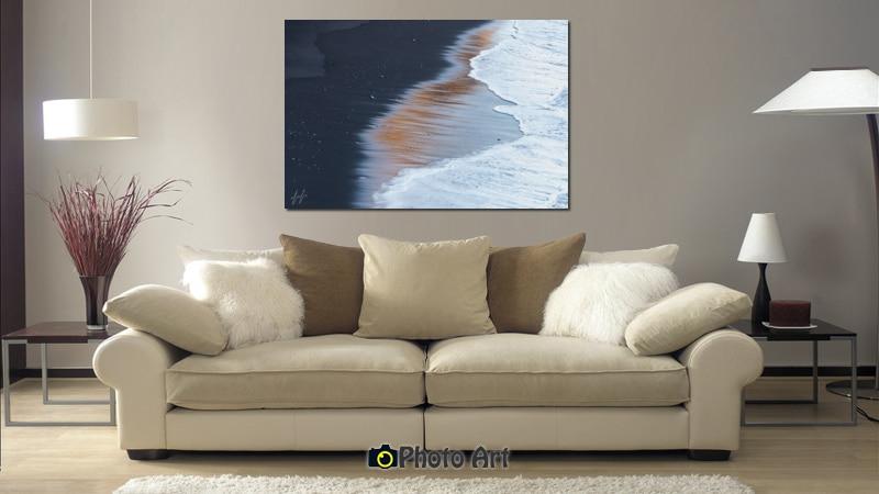 הדמיה של תמונת חוף מוזהב ועוד מגוון תמונות לבית מיוחד