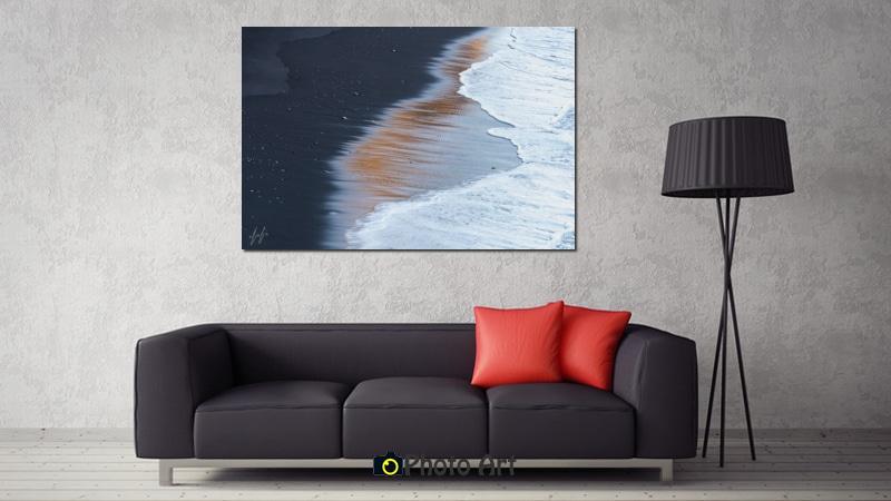 תמונת חוף מוזהב בהדמיה של הדפסה איכותית על קנבס