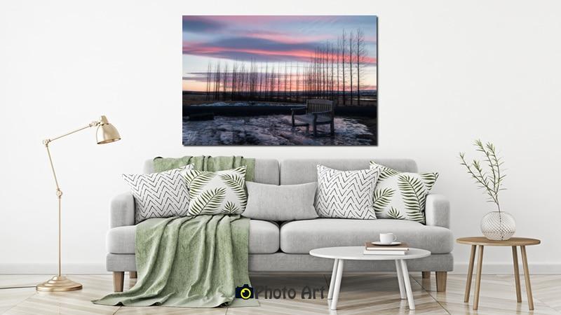 הדמיה של תמונה לסלון הנקראת דמדומים