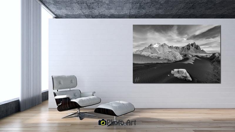 תמונת הדמיה של איסלנד בסלון מודרני בגוונים בהירים