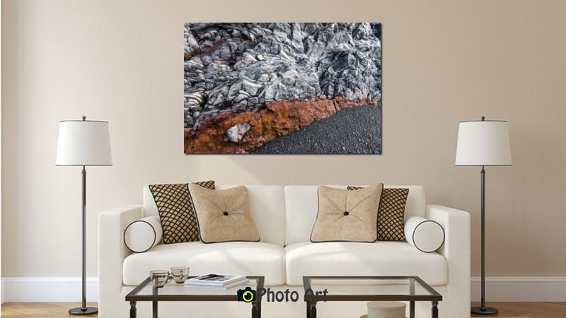 תמונת אדום בחוף בהדמיה על קנבס