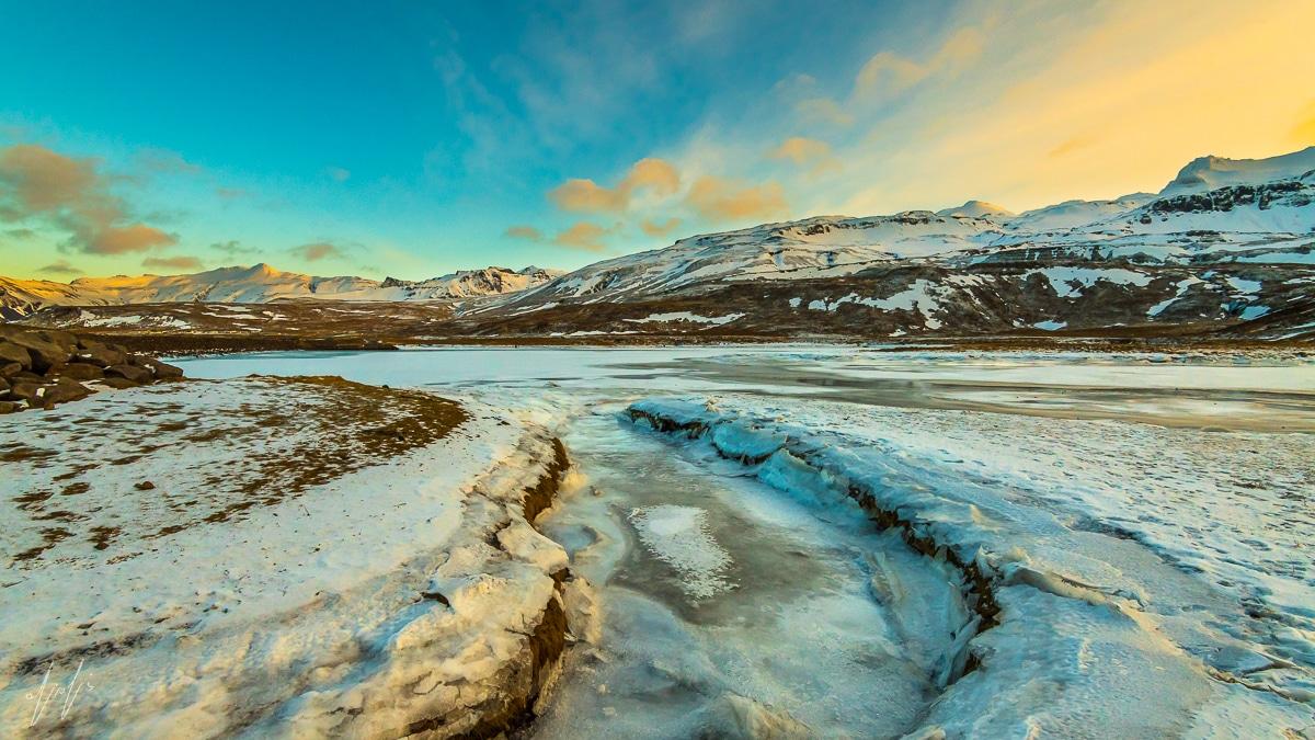 תמונה של ערוץ קפוא מתוך מבחר תמונות נוף יפות
