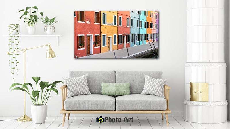 הדמיה של תמונה לסלון מה שצבע יכול לעשות