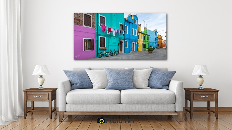 הדמיה של שכונה צבעונית ממגוון תמונות לבית
