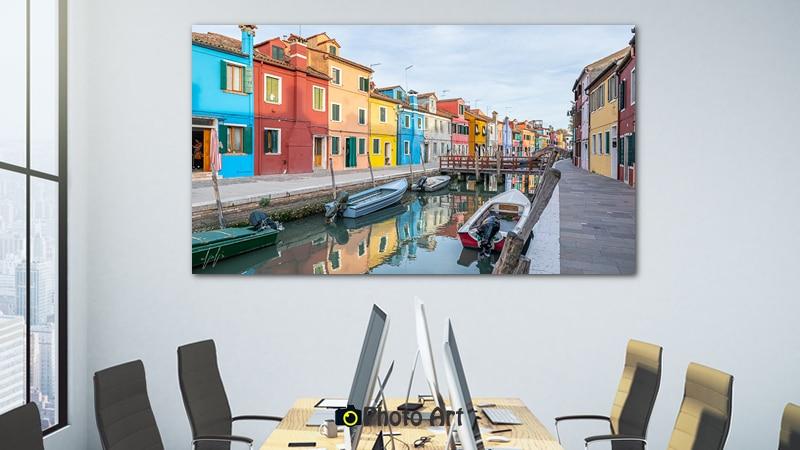 צבעים במים - תמונה למשרד מיוחד